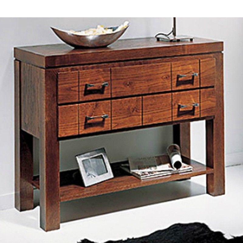 Mueble de entrada en madera fresno mesas de entrada - Mueble de entrada ...