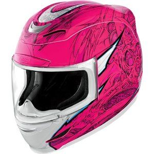 Amazon.com: 2013 Icon Airmada Sportbike SB1 Women's Motorcycle Helmet - Medium: Automotive