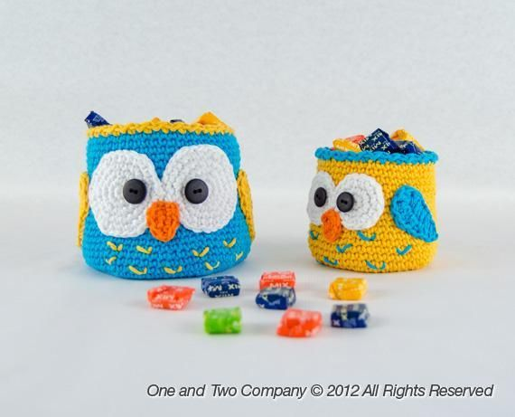 Owl Baskets - 2 sizes - via Craftsy