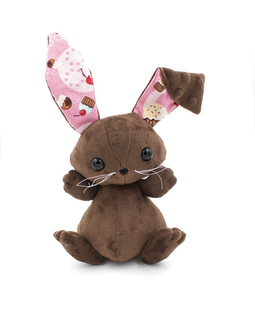 Copy Of Chocolate Cupcake Floppy Eared Bunny Stuffed Animal Plush