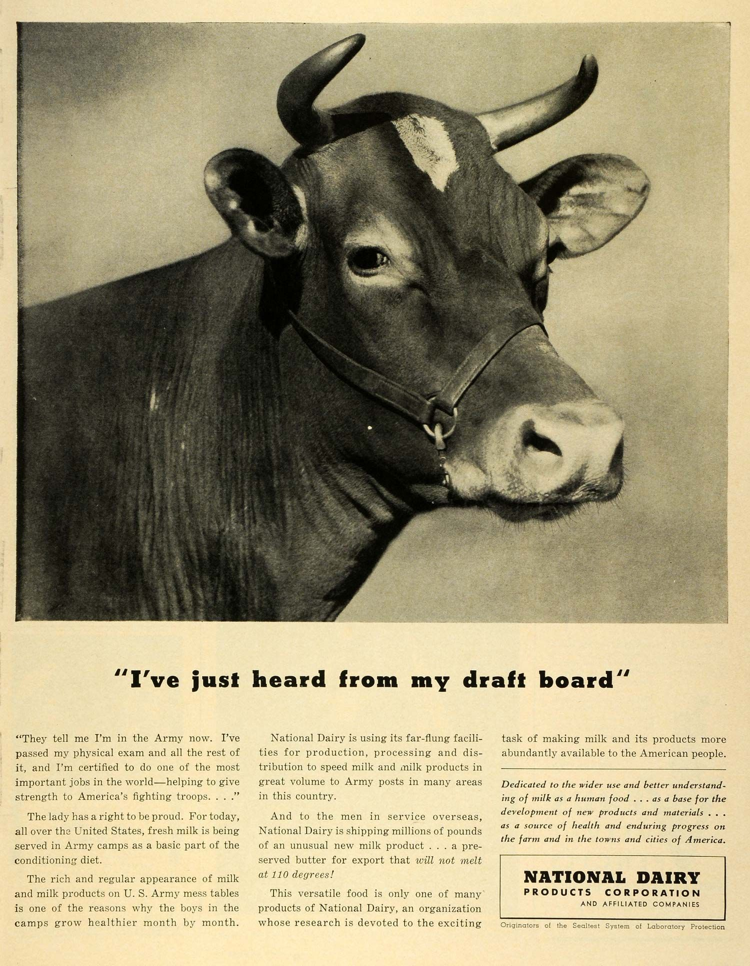 U.S.: National Dairy Products Corporation ad, 1942