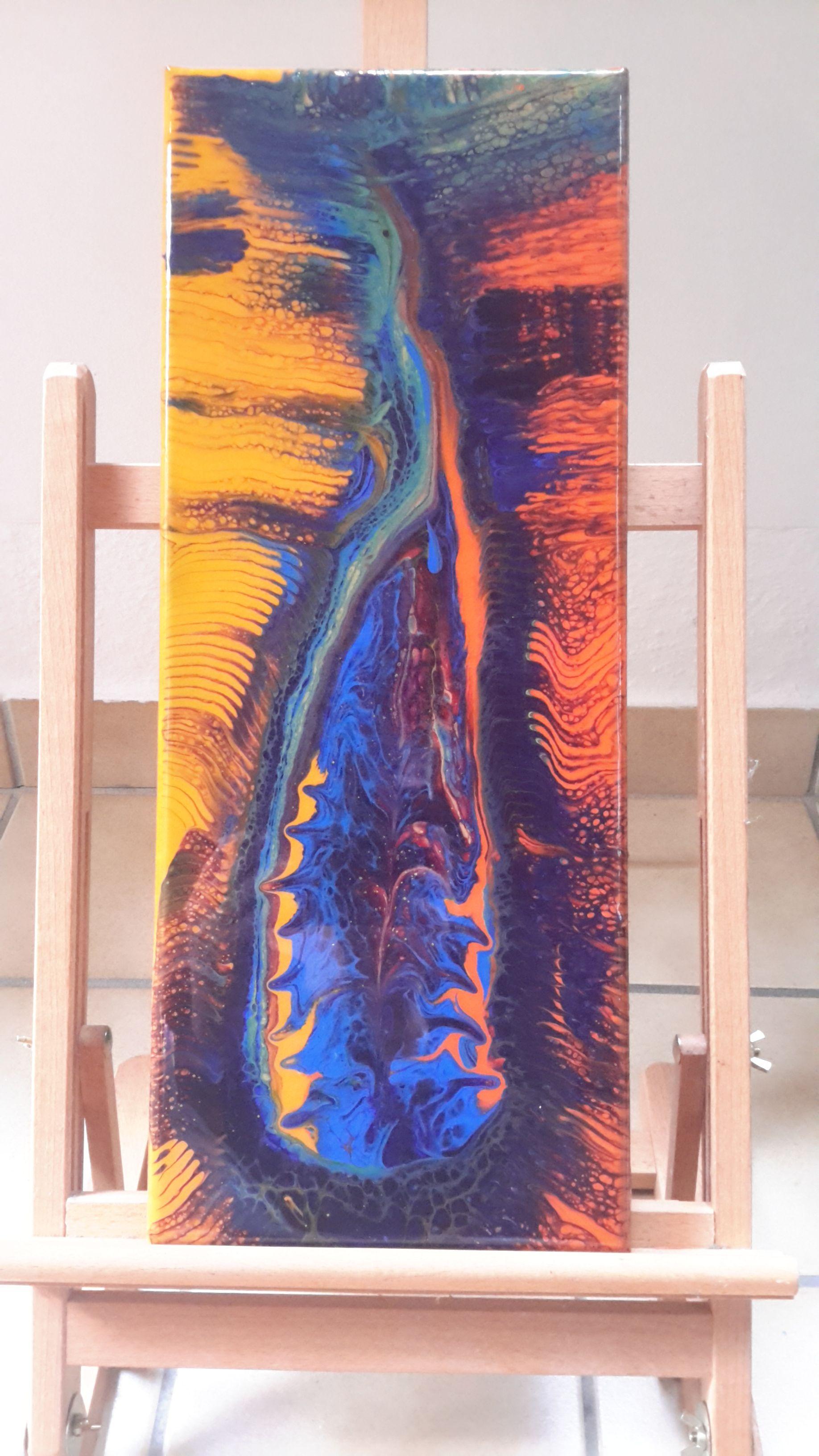 Fluid Painting Mit Epoxidharz Veredelt Ich Verkaufe Meine Bilder Auch