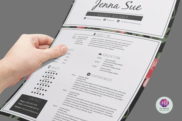 Modern resume template - Resumes resumes Pinterest Modern - template for resumes