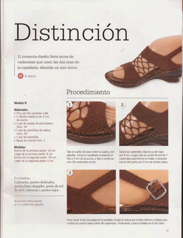 432 Sandalias en malla a Crochet | zapatos | Pinterest | Sandalias ...