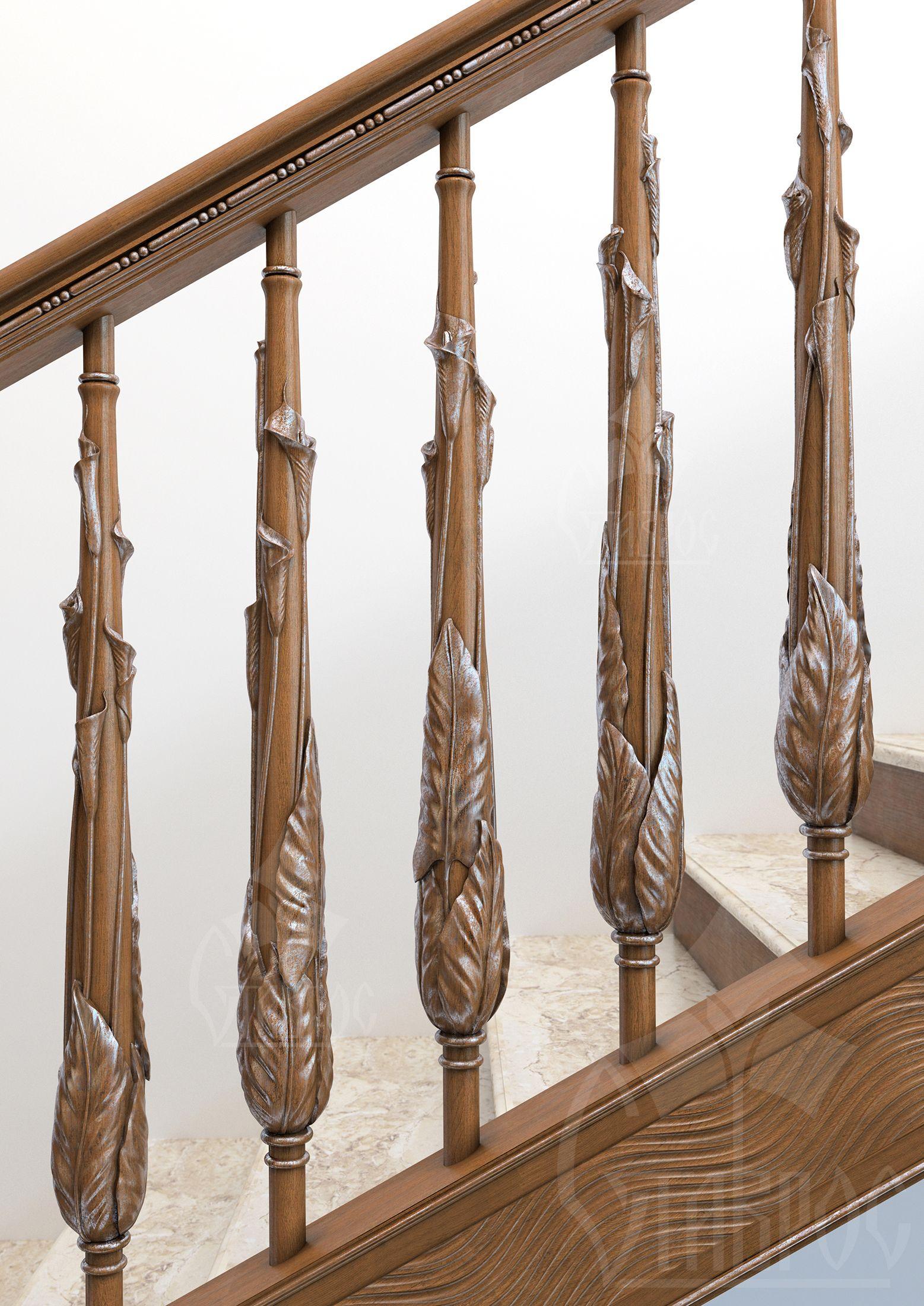 Балясины из дерева для лестниц. Комплектующие для лестниц ...