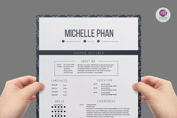 Elegant Resume Template Creativework  How To Make A Resume