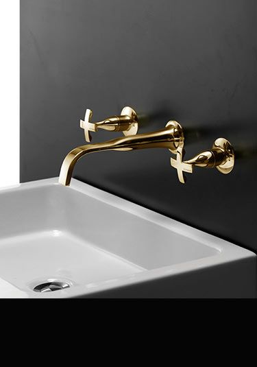 Coox Gold Wall Mounted Basin Taps 43f Bath Gold Taps Gold Faucet Bath Taps