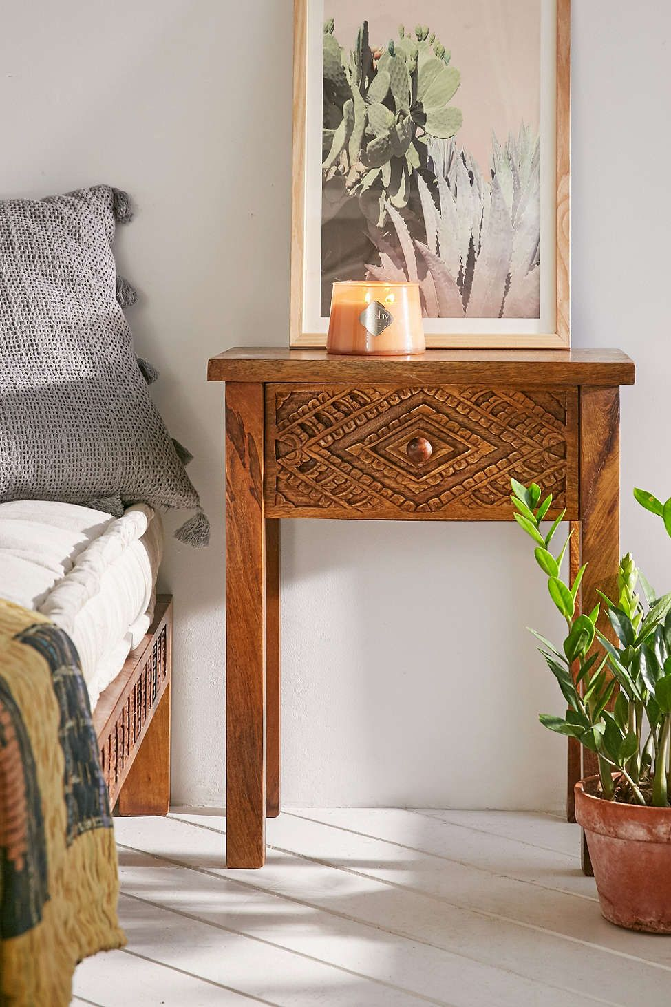 Amira carved wood nightstand wood nightstand carved wood and