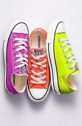 Neon converse baby!   Star sneakers