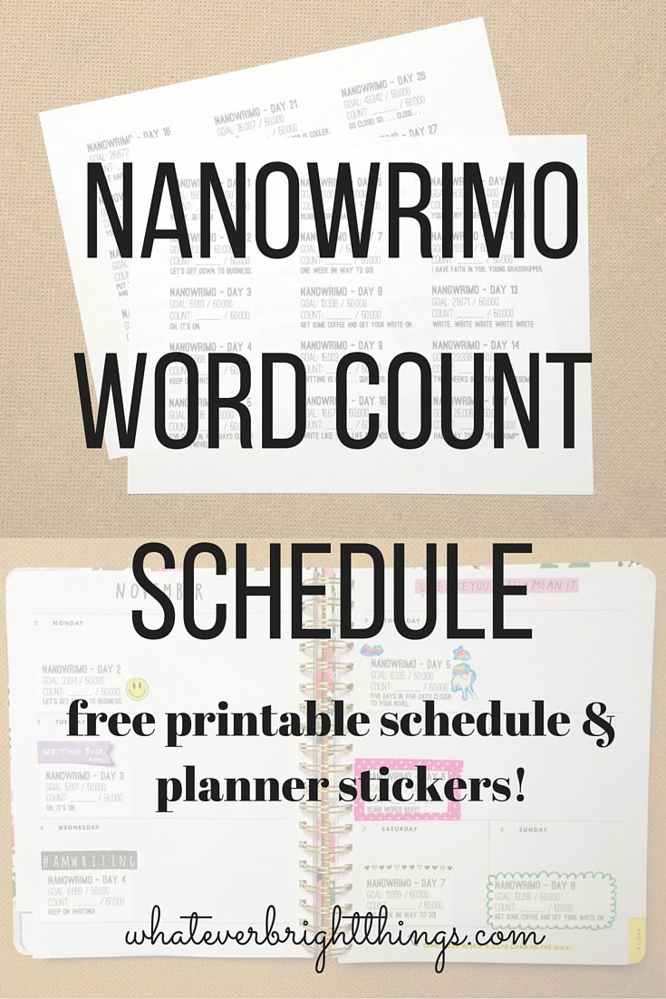 graphic relating to Novel Planner Online Free referred to as Absolutely free Printable NaNoWriMo Term Rely Plan Planner