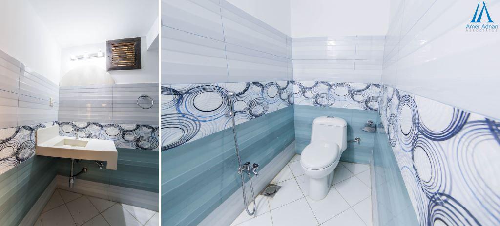 Beautiful Vanity Installation In A House By Team Amer Adnan Associates Popular Bathroom Designs Bathroom Designs India Marble Bathroom Designs