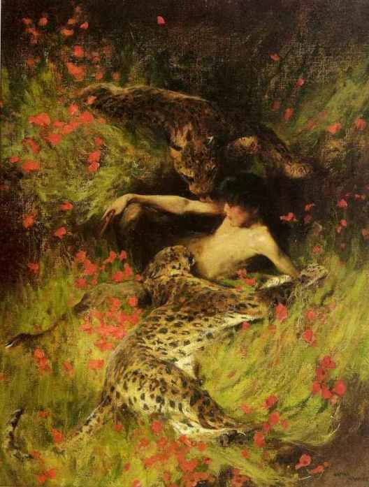 "The Enchantress  by Arthur Wardle   Paper Print 20/"" Repro"