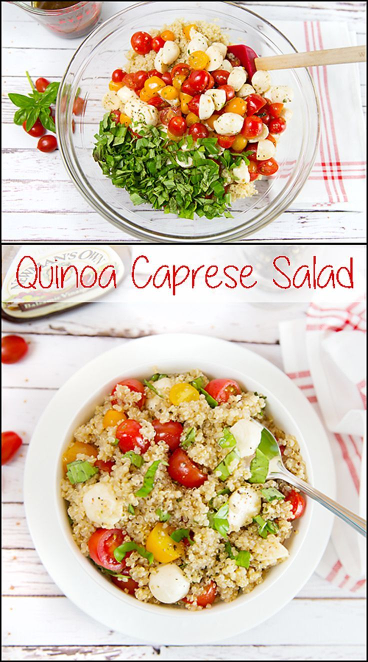 Quinoa Caprese Salad is simple to make, healthy, and delicious!