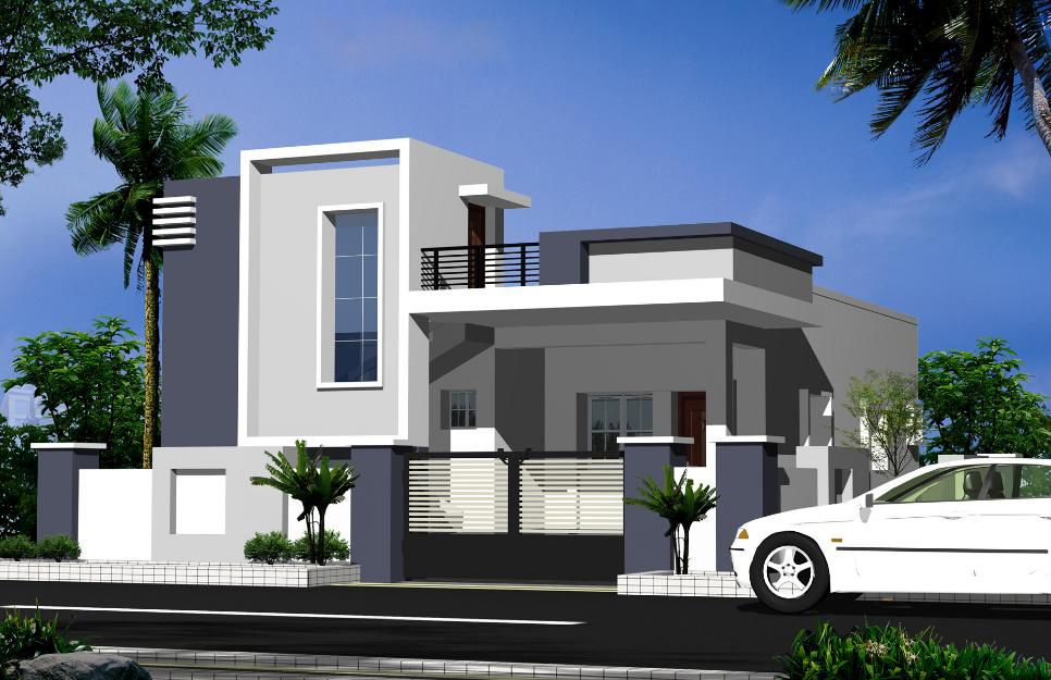 Elevations of independent houses google search for Contemporary indian house elevations