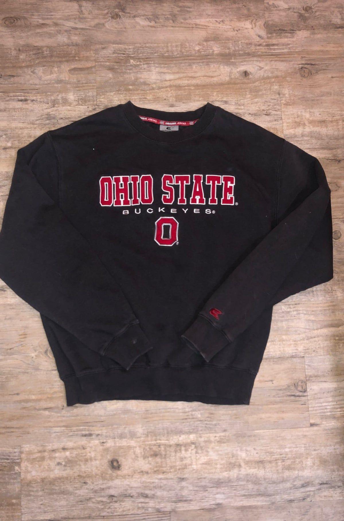 Vintage Ohio State Crewneck In 2021 Ohio State Sweatshirt Sweatshirts Ohio Outfits [ 1815 x 1200 Pixel ]