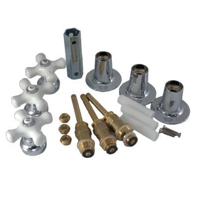 PartsmasterPro Tub and Shower Rebuild Kit with Porcelain Cross ...