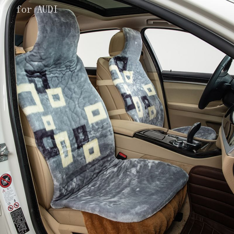 For Audi A3 A4 B6 B8 A6 A5 Q7 Pattern Keep Warm Plush Car Seat Covers Front And Rear Full Faux Fur Car Interior Accessories Interior Accessories Warm Interior