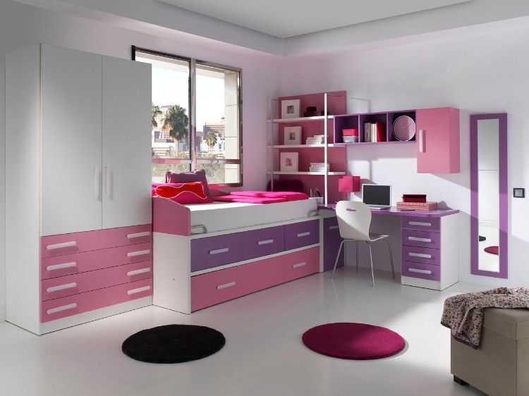 Chambre ado fille moderne en 50 idées pour un décor génial et cosy!   Chambre ado, Chambre ado ...