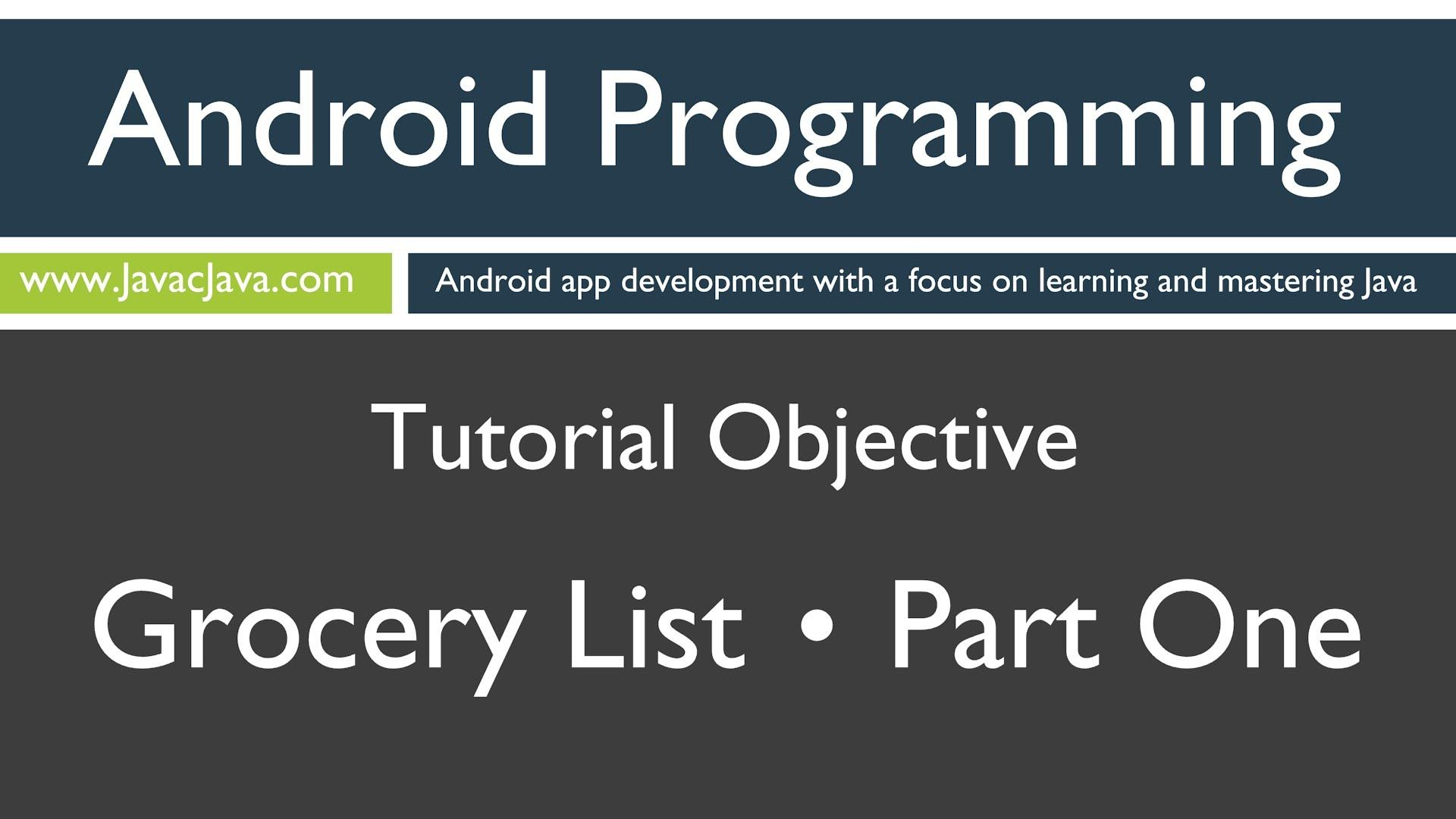 Learn java programming android shopping list part 1 tutorial learn java programming android shopping list part 1 tutorial baditri Choice Image