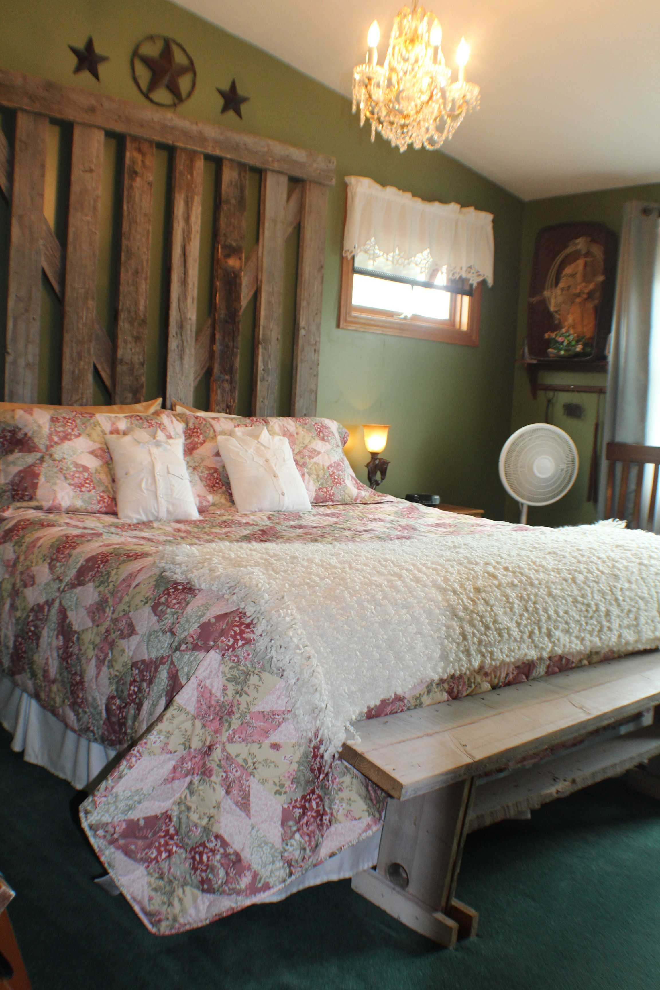 The Wild Rose room is a large, king sized room with