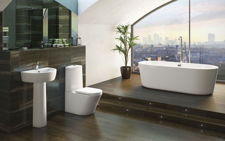 Bathroom Floor Lighting Ideas Part - 44: Arc Wall Hung Toilet Inc Seat - Victoria Plumb