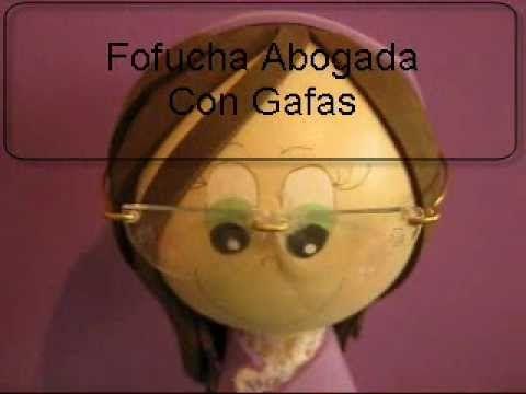 Muñeca 3d Fofucha Abogada Con Gafas Artfoamicol Moldes Y Patrones