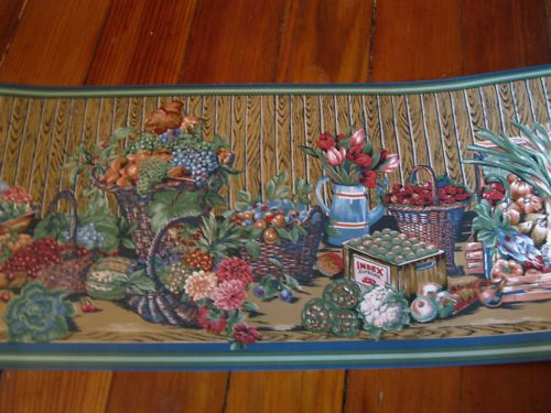 Vintage Country Rustic Flowers Floral Baskets Wall
