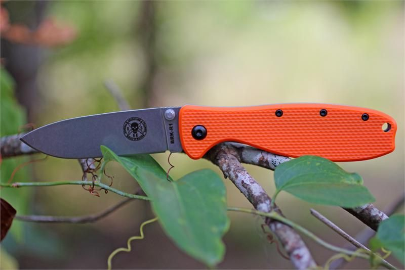 ESEE Zancudo Folder, Orange Handle, Knifeworks Exclusive