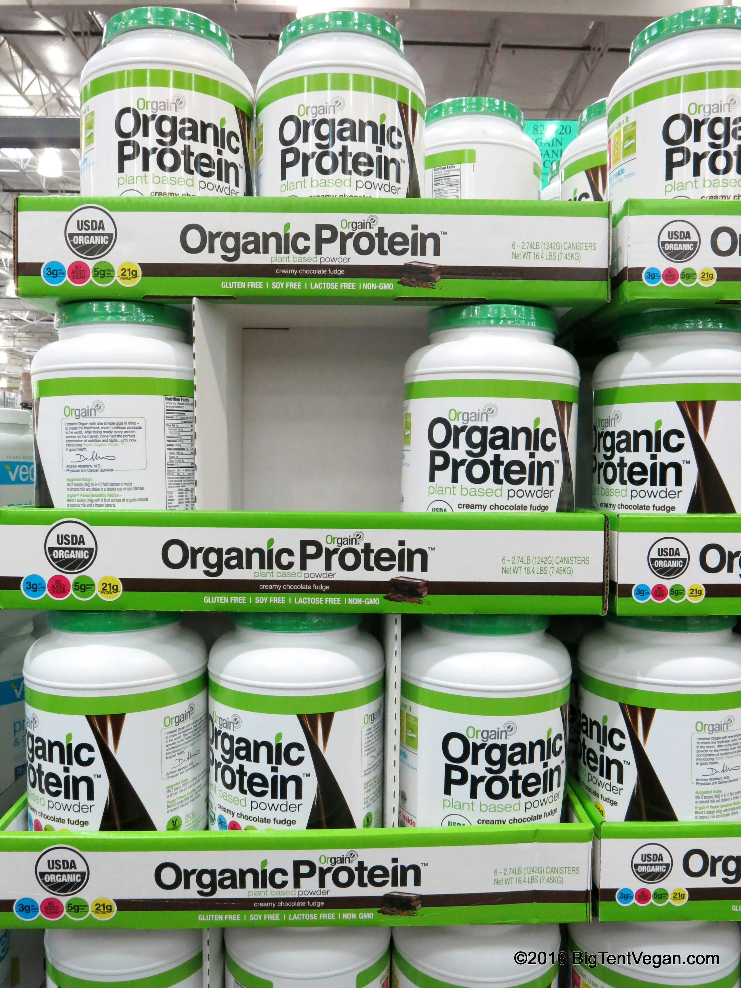 Organic Plant Based Protein Powder By Orgain Vegan Costco Vegan