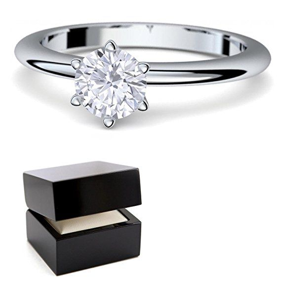 Verlobungsringe Weissgold Ring 585 Mit Swarovski Inkl