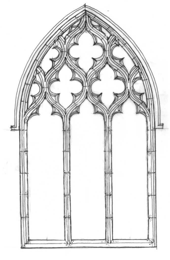 Tracery window gothic architecture pinterest style for Window design clipart