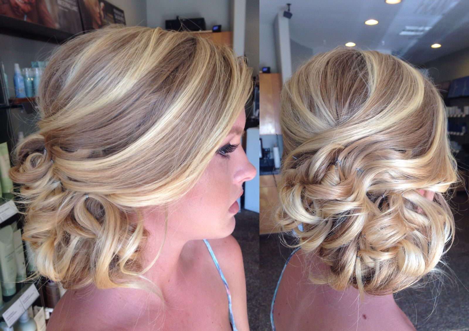 Hair by Emily Southworth @emmiry -Frangipani hair studio #updo #promupdo #bridal #bride #prom #hair