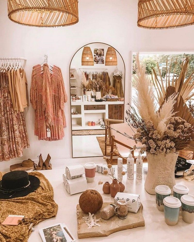 Bohemian Decorating Ideas and Designs  Boutique decor, Store