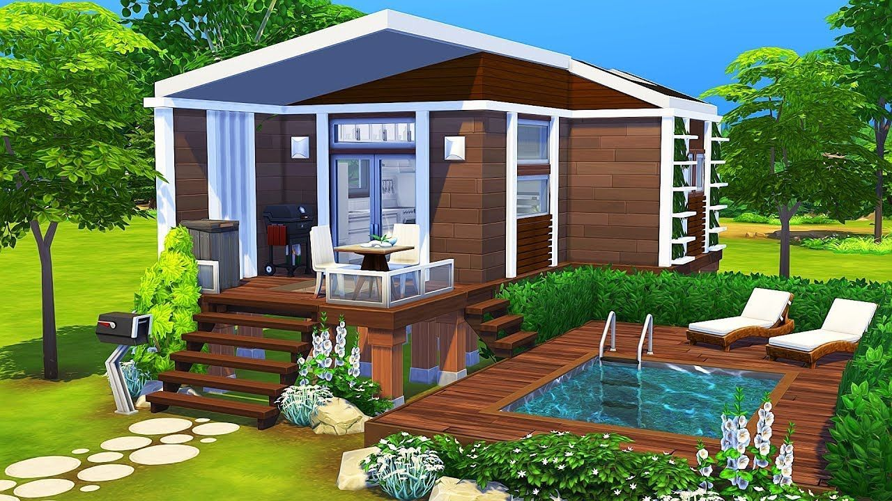 Luxurious Tiny House The Sims 4 Speed Build Sims 4 House Design Sims House Design Sims 4 House Plans
