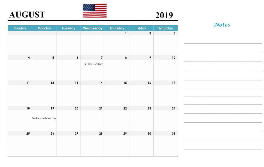 Printable August 2019 USA Holidays   Holiday calendar ...