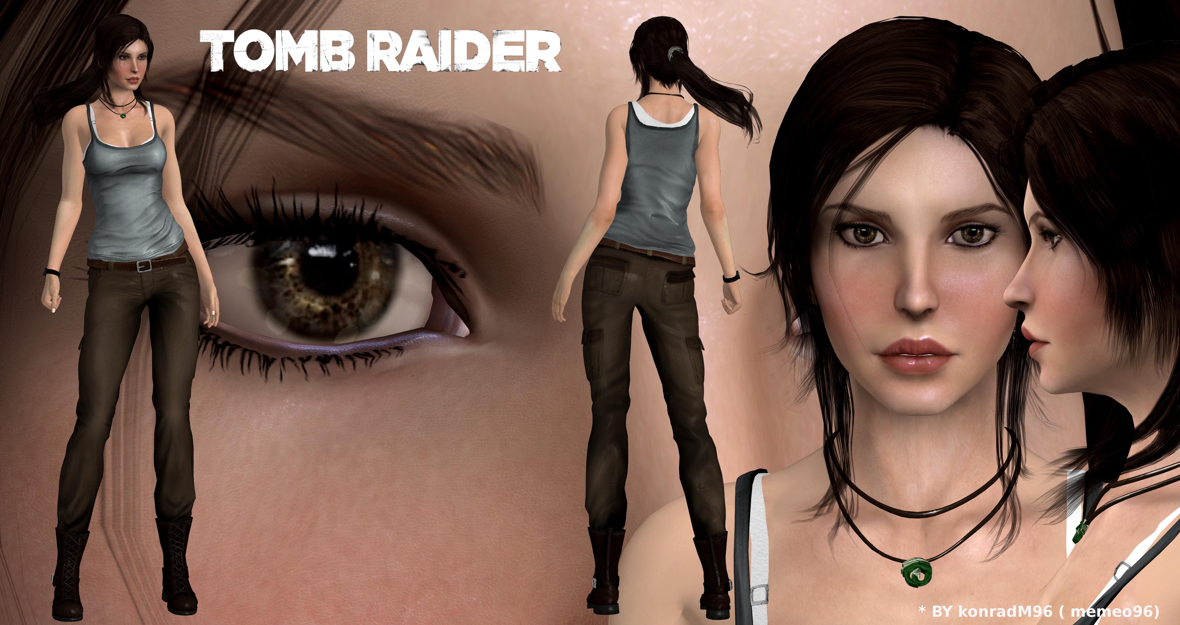 Tomb Raider 2013 Lara Croft Clean Model Release By Konradm96 On