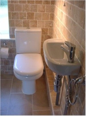 Downstairs Toilet Boxed In Pipe Work All Tiled
