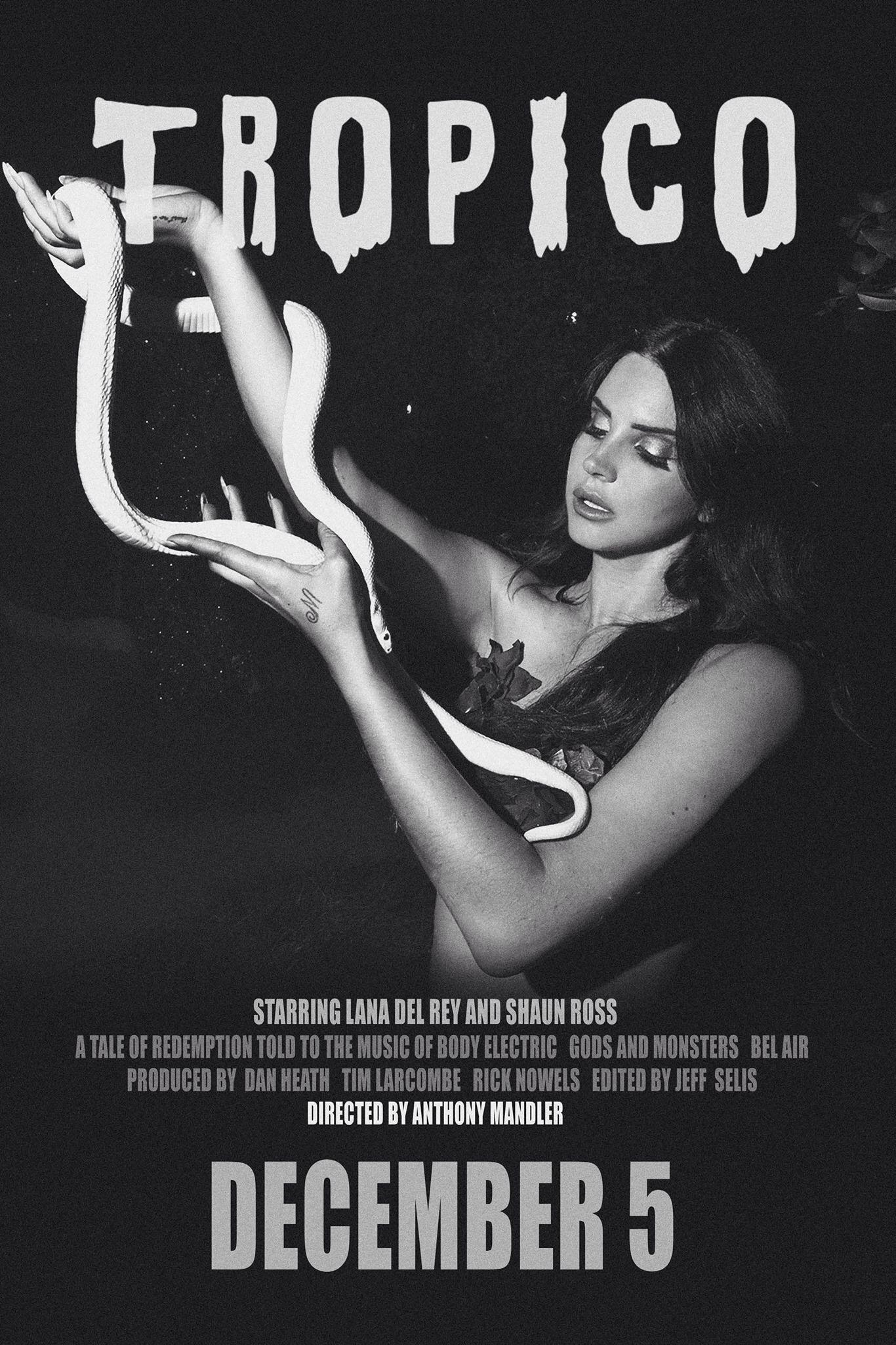 Tropico Poster With Lana Del Rey Shaun Ross Lana Del Rey Lyrics Lana Del Rey