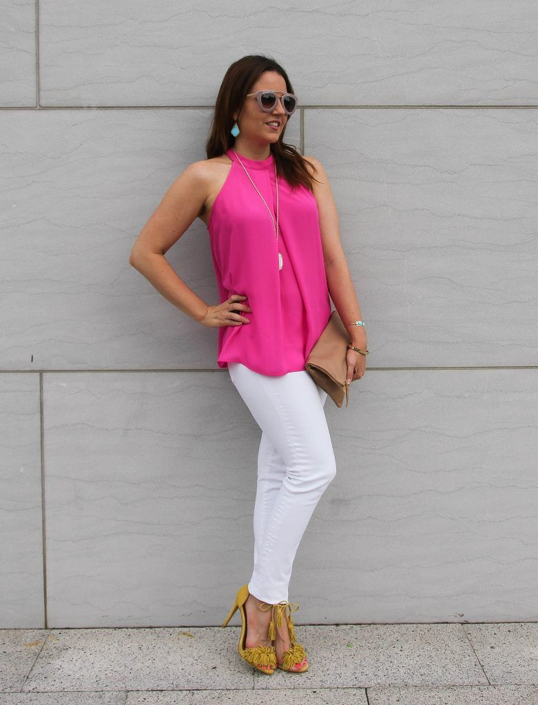Colorful Summer Party Outfit | • Fashion•Bloggers•We•Love ... Jeans And Tops For Party