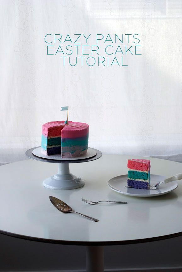 Pretty Tri-Colored Easter Cake & Tutorial - Coco Cake Cupcakes by Lyndsay Sung