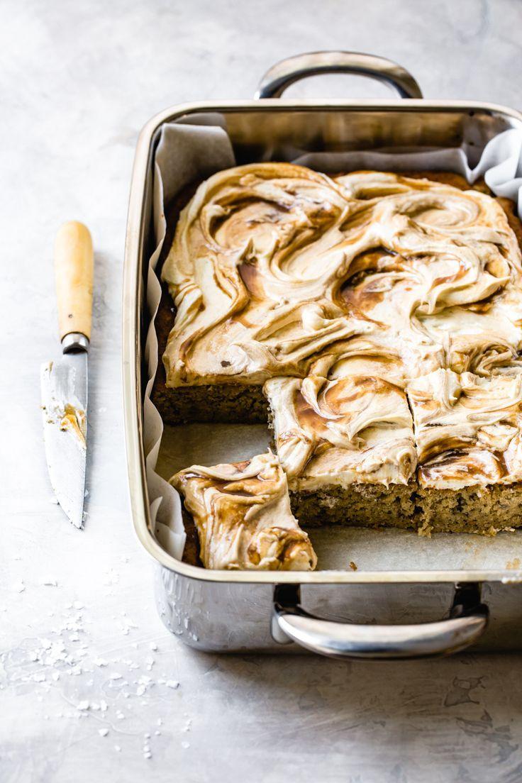 Gluten free banana cake with cream cheese frosting