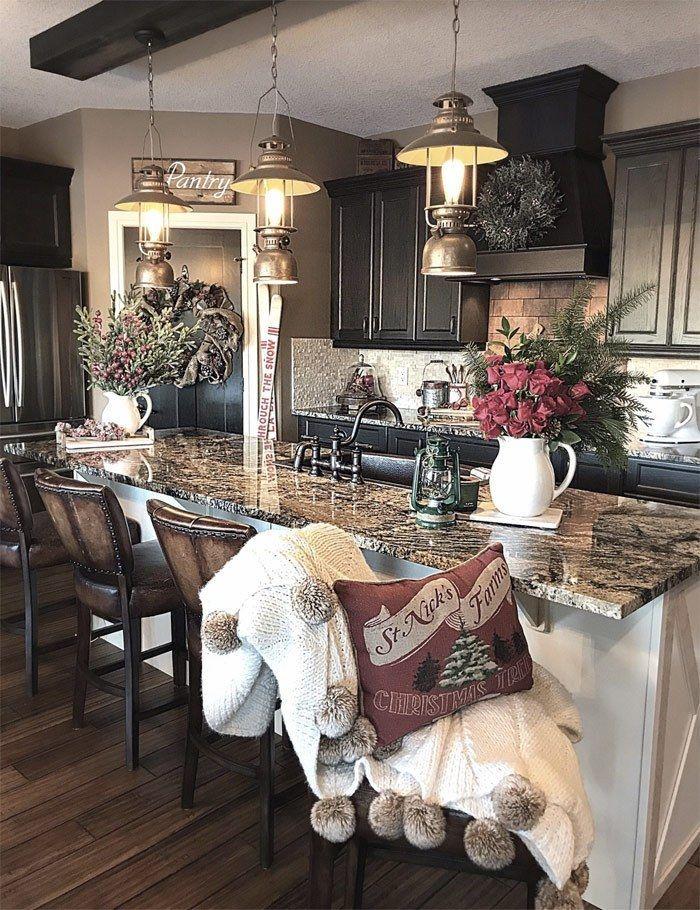 Farmhouse Kitchen Ideas On A Budget Rustic Kitchen Decor Diy