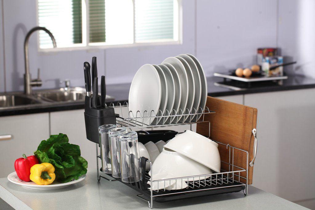Premium Racks Listed As The 2 Ranked Dish Rack For Ezvid S Best Dish Racks Of 2017 Dish Rack Drying Dish Racks Cooking Kitchen