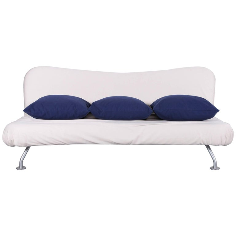 Bruhl And Sippold More Bed Sofa In White Fabric Couch Modern Sofa Bed Leather Corner Sofa Sofa Bed