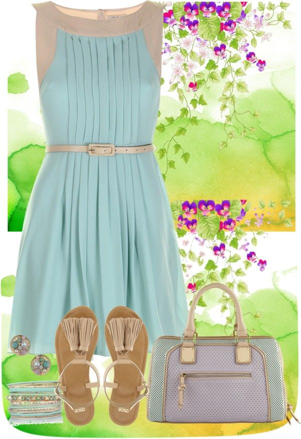 """Spring Dress"" by musicfriend1 on Polyvore"