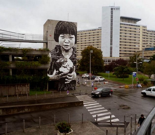 """Jef Aerosol – mural """"This World is Your World"""""""