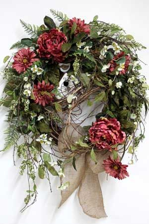 Luxury Front Door Wreath! Country Wreath With Beautiful Large Flowers! |  Pretty Grapevine Wreaths | Pinterest | Front Door Wreaths, Door Wreaths And  Front ...