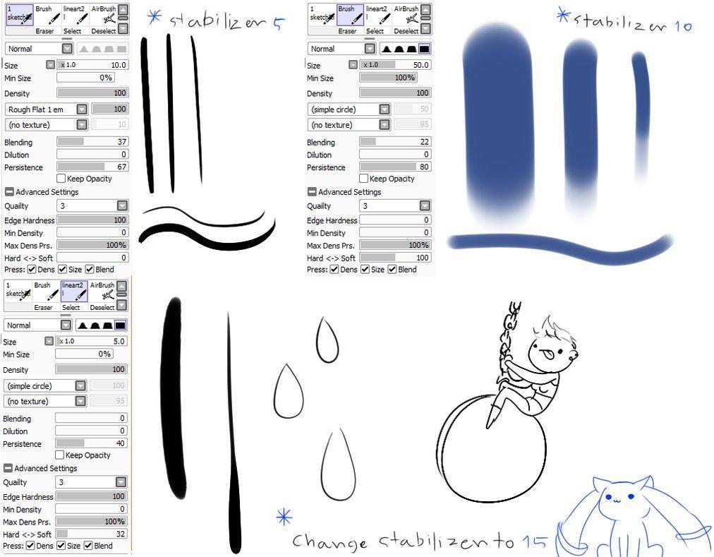 Sai Brushes Firealpaca Brushes – Desenhos Para Colorir