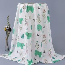 Baby Blanket Bath Towel Bamboo Swaddle Blanket Diaper Gauze Muslin Blanket