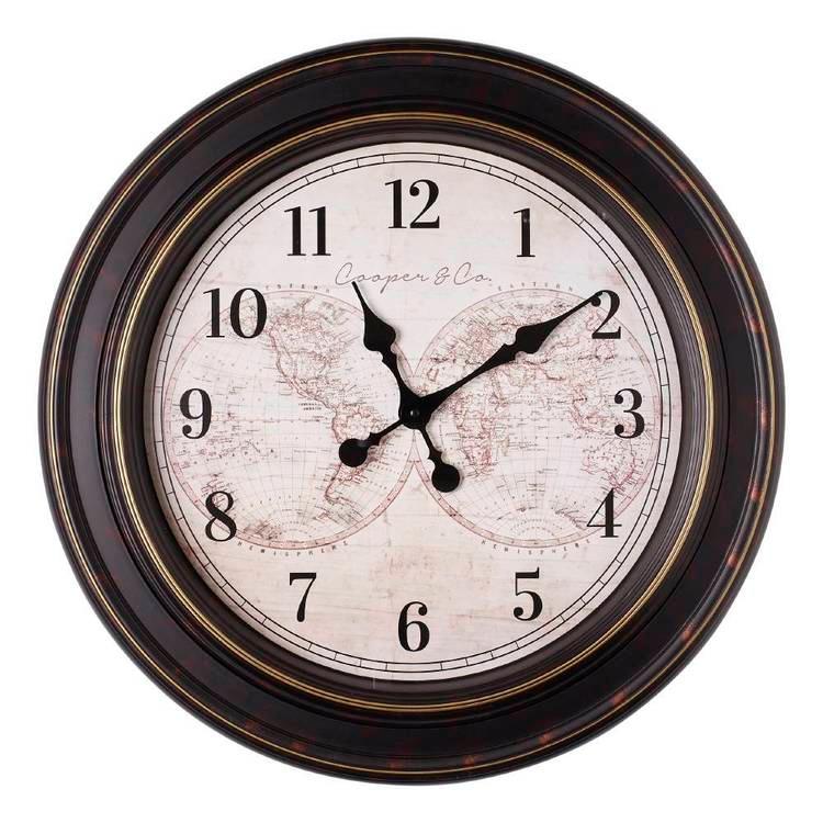 Cooper Co Jumbo Atlas Clock Black In 2020 Clock Jumbo Atlas